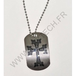 DOG TAG CROIX ALPHABET ARMENIEN