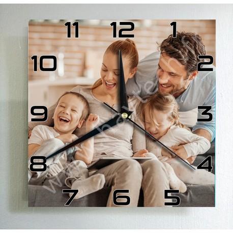 Horloge personnalisée carrée